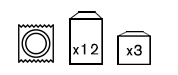 Cajas de 3, 6 y 12 uds